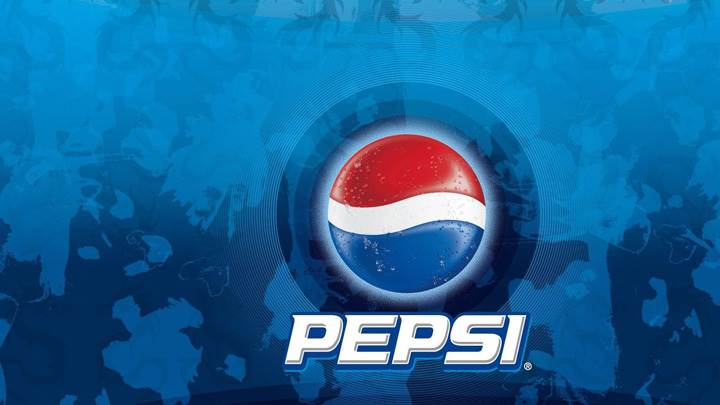 Pepsi Logo On Blue Background