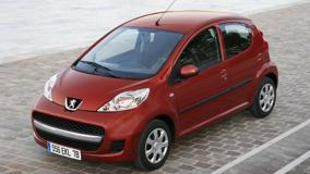 Peugeot 107 In Red Top Pose