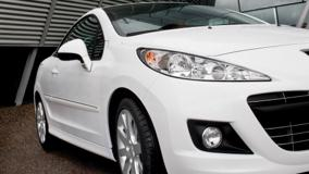 Peugeot 207 CC Restyled Front HeadLight Closeup