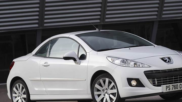 Peugeot 207 CC Restyled In White Front Side Pose