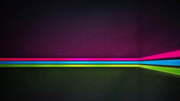 Pink Blue Green Line Abstract