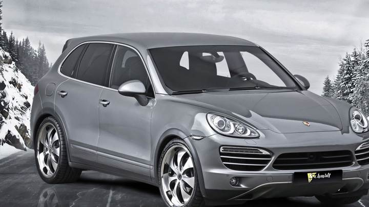 Porsche Cayenne II Schmidt Revolution In Grey On Road