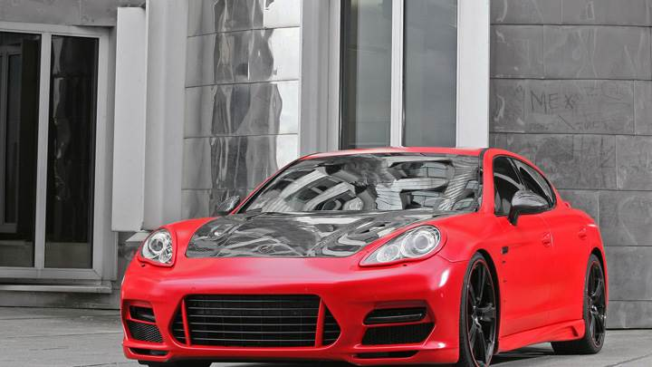 Porsche Panamera Anderson Germany Front Pose In Red