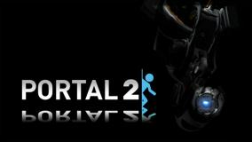 Portal 2 Black Background Poster