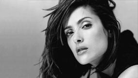Salma Hayek Black N White Hot Face Closeup