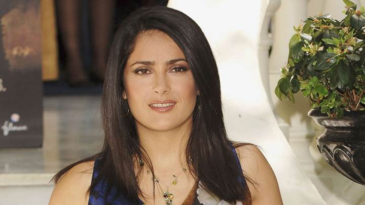 Salma Hayek Looking At Camera Front Pose