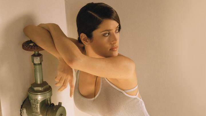 Salma Hayek Looking Side Photoshoot
