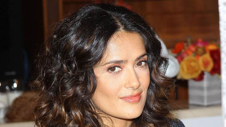 Salma Hayek Side Face Closeup At The Breakefast Project