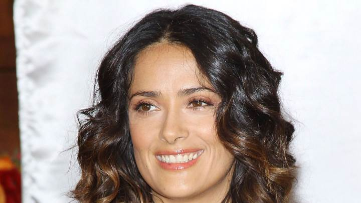Salma Hayek Smiling Face Closeup At The Breakefast Project