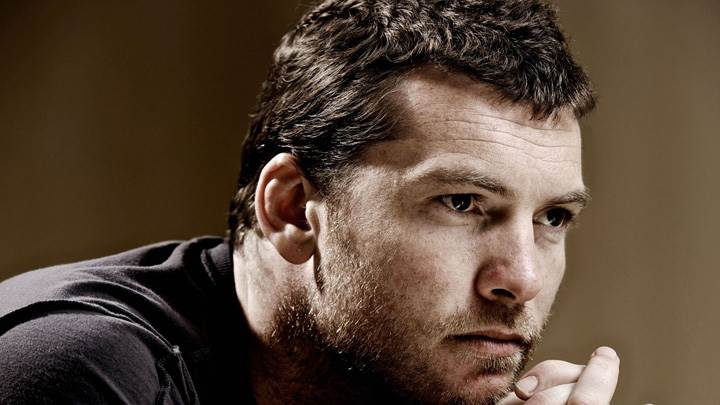 Sam Worthington Thinking Face Closeup
