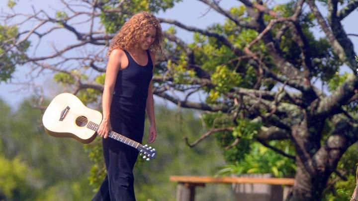 Shakira Guitar In Hand Smiling Photoshoot In Summer Farm