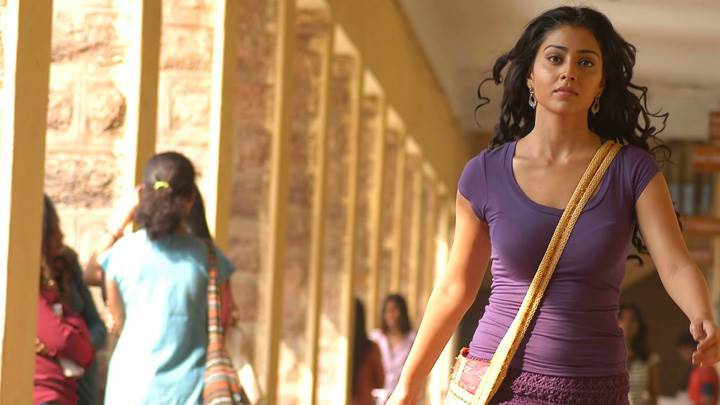 Shriya Saran In Purple Top In Kutty Movie