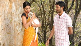 Shriya Saran In Yellow Saree N Dhanush Photoshoot In Kutty Movie