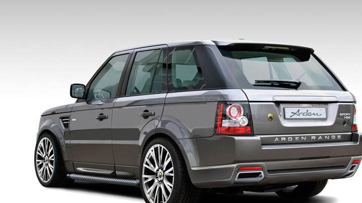 Side Back Pose Of Arden Range Rover Sport AR5 2010 In Grey