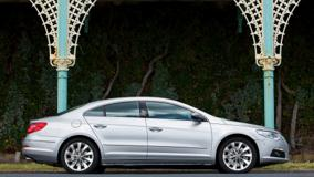 Side Pose Of 2009 Volkswagen Passat CC GT In Silver