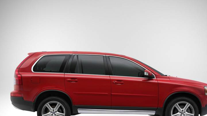 Side Pose Of 2009 Volvo XC90 In Red