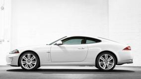 Side Pose Of 2010 Jaguar XKR In White