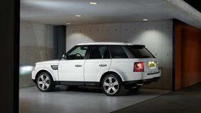Side Pose Of 2010 Range Rover Sport In White