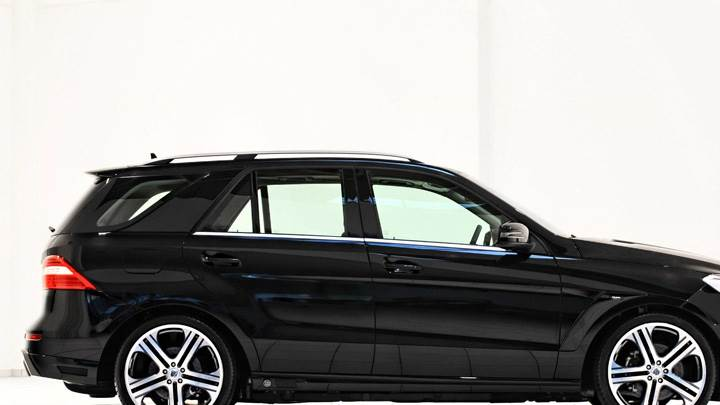 Side Pose Of Brabus Mercedes-Benz ML W166 In Black