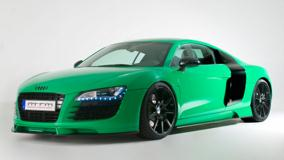 Side Pose Of Green Mtm Audi R8