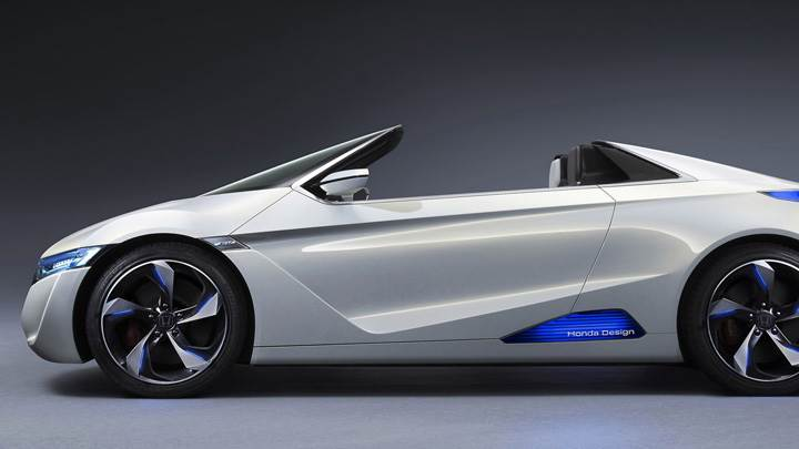 Side Pose Of Honda EV-STER Concept In Silver