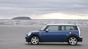 Side Pose Of Mini Cooper S Near Sea Side