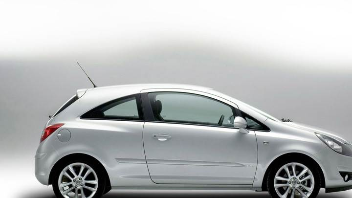 Side Pose Of Vauxhall Corsa In Silver