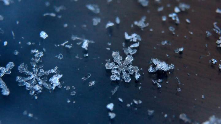 Snowflakes On Table
