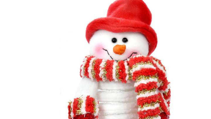 Snowman Wearing A Red Cap