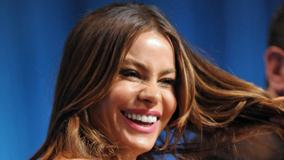 Sofia Vergara Laughing Pink Lips At Paleyfest
