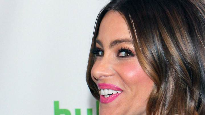 Sofia Vergara Smiling Side Face Closeup At Paleyfest