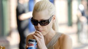 Sophie Monk In Goggles Drinking Pepsi Photoshoot