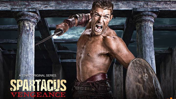 Spartacus – Vengeance – Liam Mcintyre Screaming With Sword