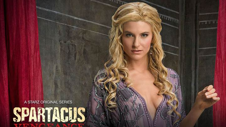 Spartacus – Vengeance – Lucy Lawless In Purple Dress