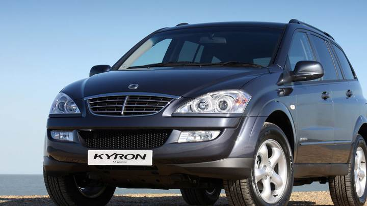 SsangYong Kyron 2008 In Black Front Pose