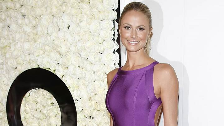 Stacy Keibler Smiling In Purple Top At Style Event In Beverly Hills