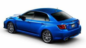 Subaru Impreza WRX STI S206 In Blue Back Side Pose