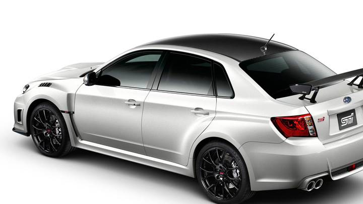 Subaru Impreza WRX STI S206 In White Back N White Background