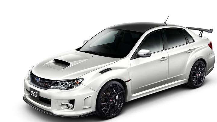 Subaru Impreza WRX STI S206 In White N White Background