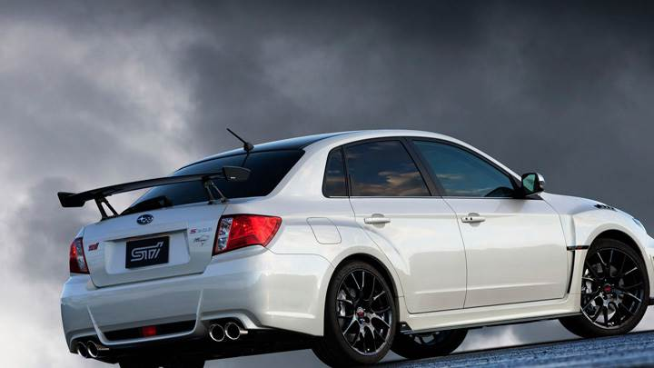 Subaru Impreza WRX STI S206 In White Side Pose