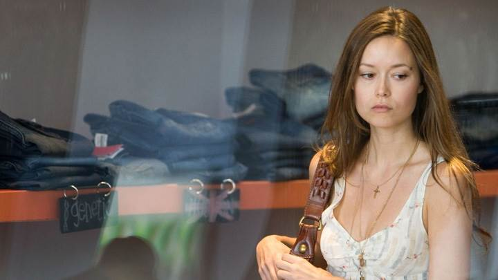 Summer Glau In White Dress Sad Face Photoshoot