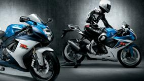 Suzuki Gsx R600 In Blue And White Color