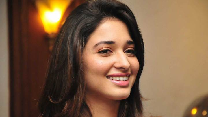 Tamanna Bhatia Pink Lips Smiling Cute Face Closeup