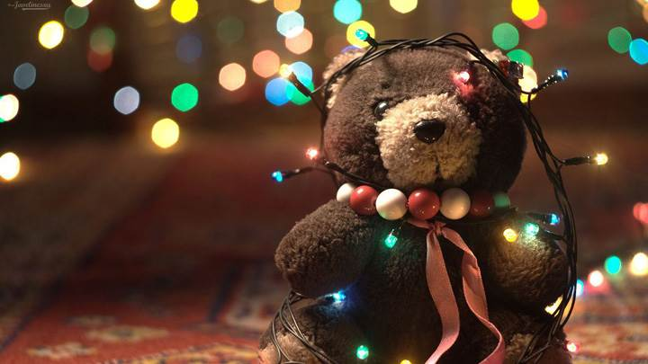 Teddy Bear With Lights