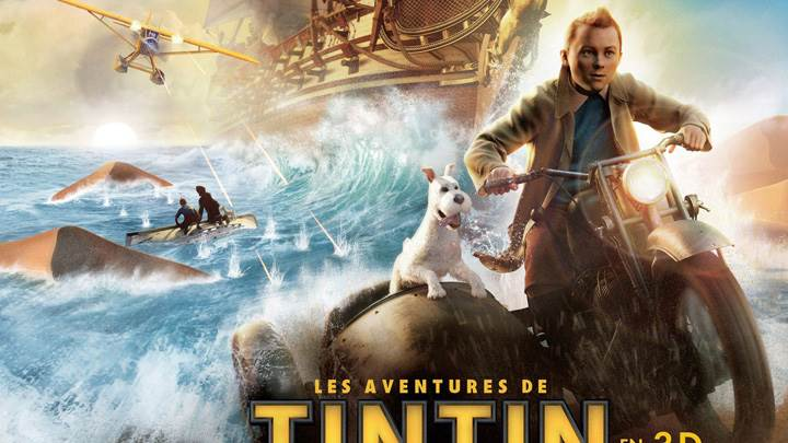 Tintin In French Cover Poster