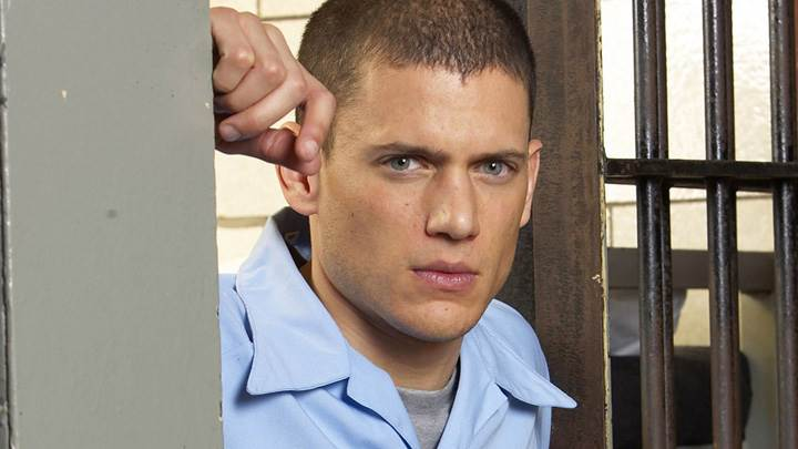 Wentworth Miller Looking Front In Blue Shirt Photoshoot