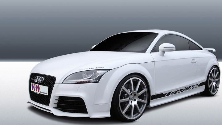 White Kw Audi Ttrs Front Side Pose