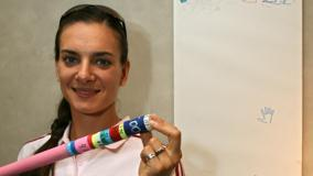 Yelena Isinbayeva Cute Smiling Looking Front Photoshoot