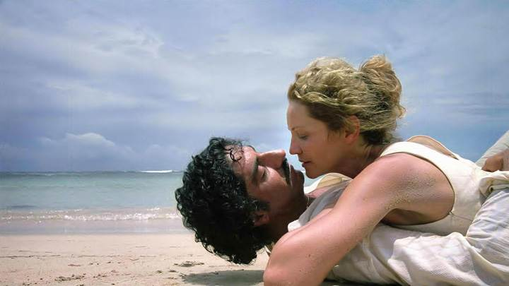 Yes – Joan Allen And Simon Abkarian Hugging Near Sea Side