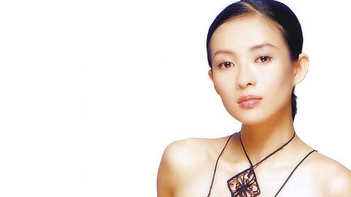 Zhang Ziyi Cute Innocent Face Photoshoot On White Background